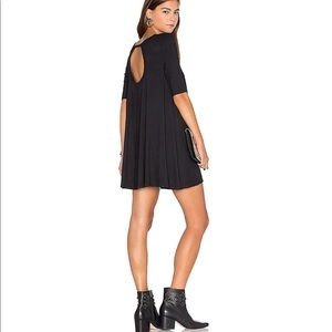Free People Open Back Tunic Dress Black XS
